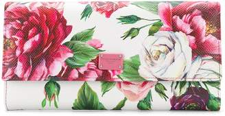 Dolce & Gabbana Peony continental wallet