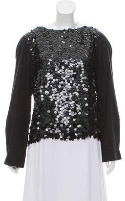 Dries Van Noten Silk Sequin Top