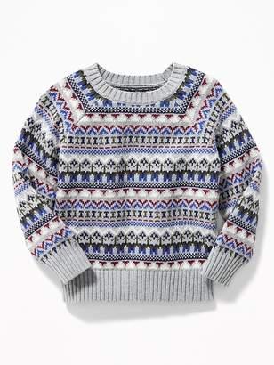 Old Navy Fair Isle Raglan-Sleeve Sweater for Toddler Boys