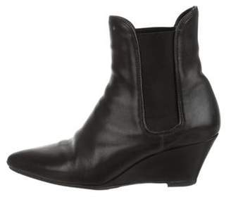 Loeffler Randall Leather Pointed-Toe Ankle Boots Black Leather Pointed-Toe Ankle Boots