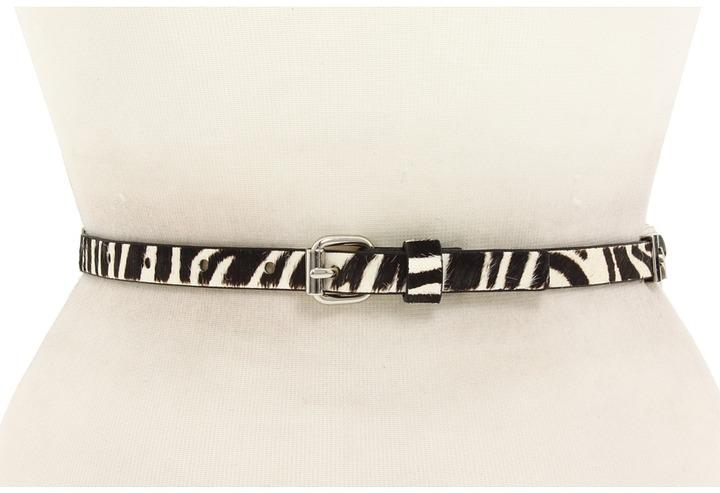Anne Klein - 5/8 Roller Buckle Haircalf Belt (Zebra) - Apparel