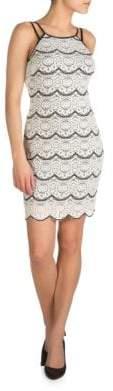 Guess Scalloped Squareneck Dress