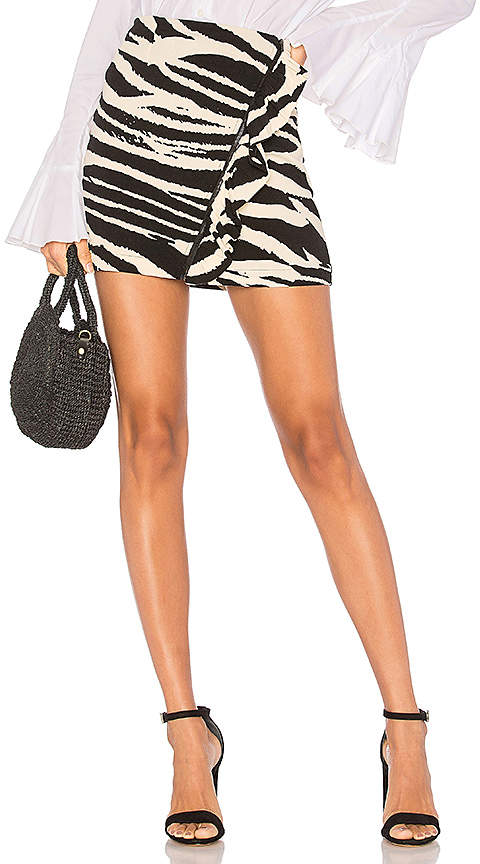 Free People Ruffle Babe Mini Skirt in Black & White. - size 0 (also in 2,4,6)