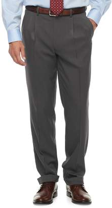 Chaps Big & Tall Classic-Fit Performance Pleated Dress Pants