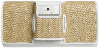 Perrin Paris La Capitale Raffia Clutch Bag