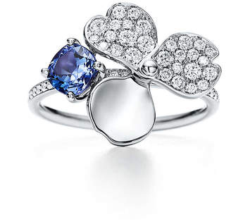 Tiffany & Co. Paper Flowers diamond and tanzanite flower ring