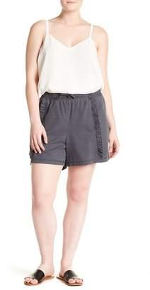 Susina Ruffled Twill Shorts (Plus Size)