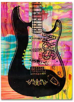 """Trademark Global Dean Russo 'Srv Guitar' Canvas Art - 32"""" x 24"""" x 2"""""""