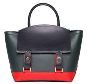 Sacai Hybrid Medium Colorblock Leather Tote