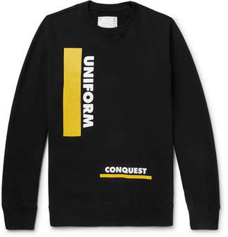 Sacai Printed Loopback Cotton-Jersey Sweatshirt