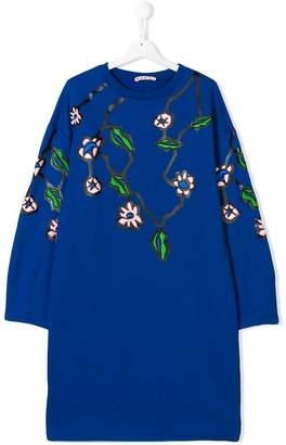 Marni TEEN floral embroidered sweatshirt