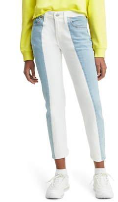 Levi's 501(R) Colorblock High Waist Crop Jeans