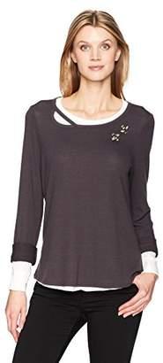 Democracy Women's Long Sleeve 2-Fer Sweatshirt