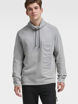 DKNY Funnel-Neck Embossed Logo Pullover