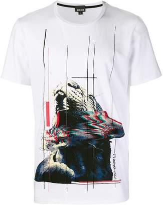 Just Cavalli contrast print T-shirt