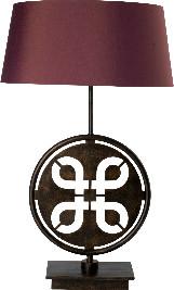 Blackbird Bespoke - Handcrafted Crib Table Lamp In Bronze Finish - Brown