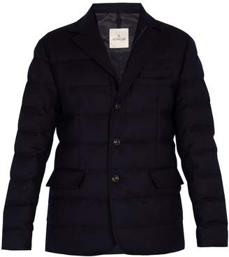 Moncler Rodin quilted down wool blazer