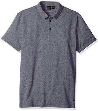 HUGO BOSS BOSS Orange Men's Cotton Stretch Pique Polo with Contast Cuff and Collar