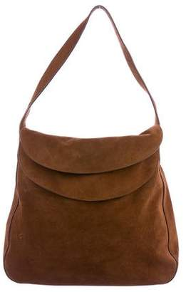 98070a64a1e5e7 ... order pre owned at therealreal prada 2015 double flap suede shoulder bag  29506 0f78d
