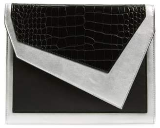 Leith Colorblock Faux Leather Envelope Clutch