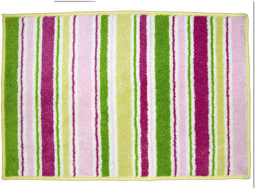 Bacati Girls Stripes and Plaids Rug