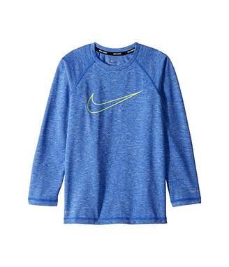 Nike Heather Swoosh Long Sleeve Hydroguard (Big Kids)
