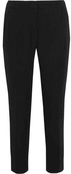 J.Crew - Cropped Crepe Tapered Pants - Black