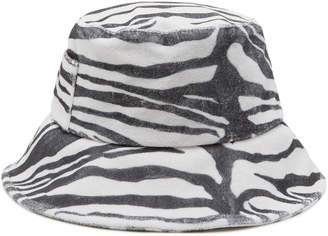 LACK OF COLOR Wave Zebra-Print Terry Bucket Hat