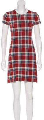 Theory Plaid Bodycon Dress
