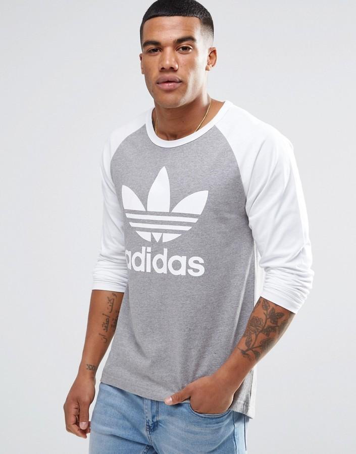 adidas Originals Trefoil Raglan Long Sleeve T-Shirt AY7803