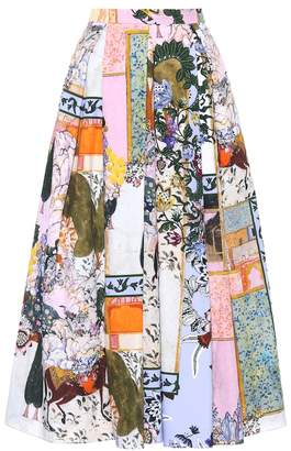 Erdem Elena cotton skirt