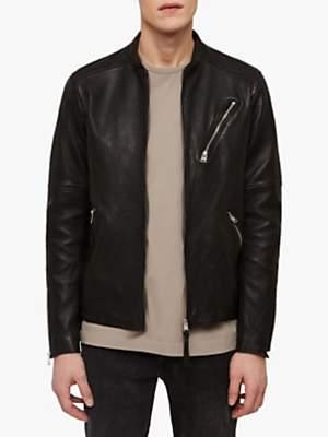 Holbrooke Leather Biker Jacket, Black