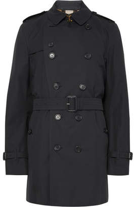 Burberry Kensington Mid-Length Weatherproof Cotton-Gabardine Trench Coat
