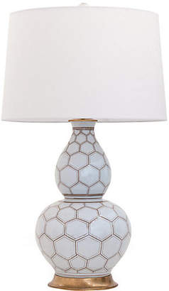 Port 68 Kenilworth Double-Gourd Table Lamp - White/Brown
