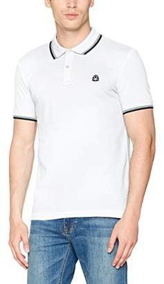 Benetton Men's H/s Polo Shirt (White 101), (Size: EL)