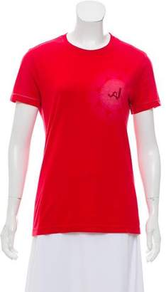 Armani Jeans Short Sleeve Embroidered Top