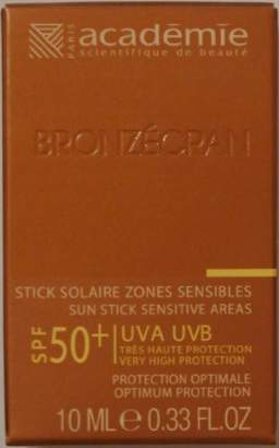 Academie Bronzecran Sun Stick Sensitive Areas SPF 50+ for Sensitive and Highly Exposed Areas
