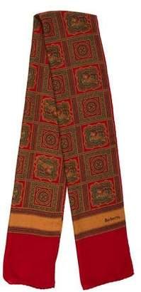 Burberry Vintage Printed Silk Scarf