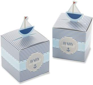 Kate Aspen Kateaspen Baby on Board, Pop-Up Sailboat Favor Box (Set of 24)