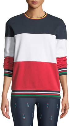 The Upside Colorblock Crewneck French Terry Sweatshirt