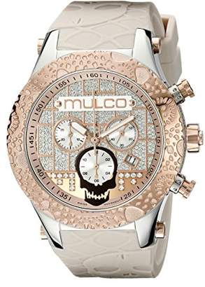 Mulco Men's 'Couture' Swiss Quartz Stainless Steel and Silicone Casual Watch