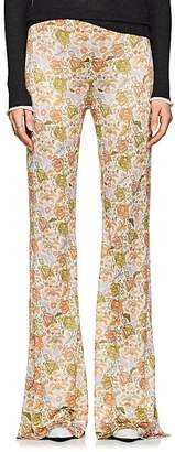 Acne Studios Women's Floral Knit Flared Pants