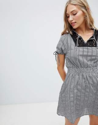 Hazel Gingham Smock Dress