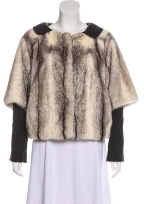 Chloé Mink Fur-Trimmed Jacket