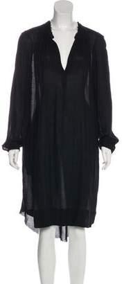 Raquel Allegra Silk Long Sleeve Midi Dress