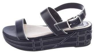 Christian Dior Leather Flatform Sandals