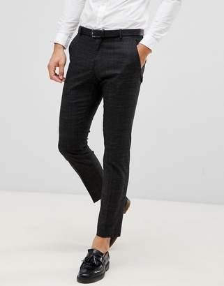 Selected Black Fleck Suit PANTS In Slim Fit