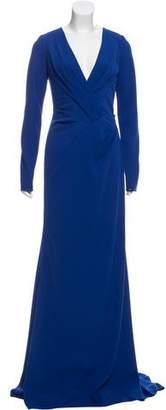 Carmen Marc Valvo Long Sleeve Evening Dress