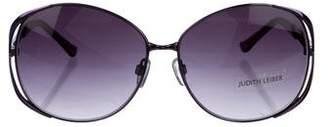 Judith Leiber Oversize Gradient Sunglasses