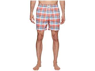 Nautica Coastal Beach Madras Swim Shorts Men's Swimwear